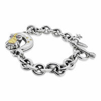 owl bracelet with moon