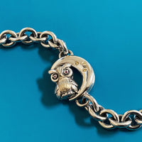 moon bracelet with owl