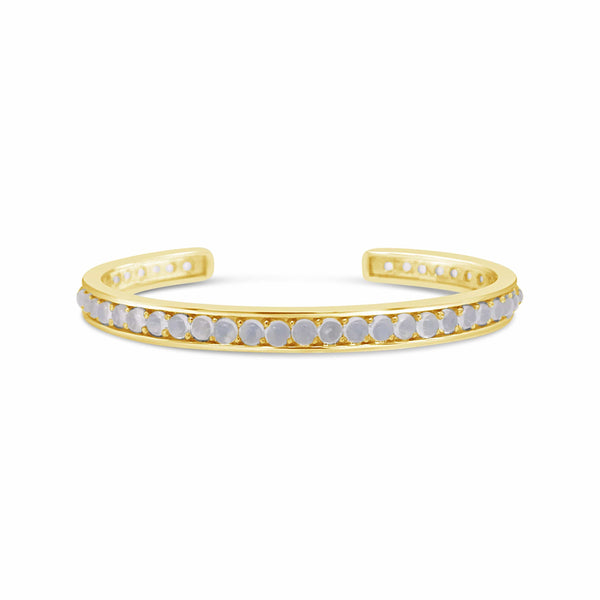 18k gold and cabochon moonstone cuff bracelet