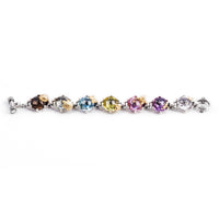 multi colored gemstone charm bracelet
