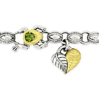 peridot frog necklace