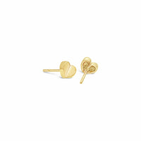little gold heart pierced earring 18k yellow gold