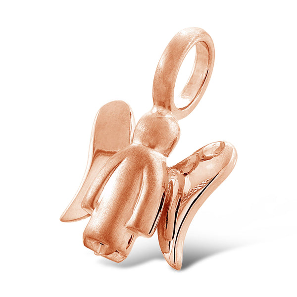 angel pendant rose gold