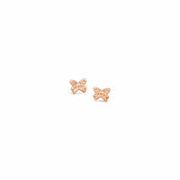18k rose gold butterfly earrings