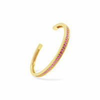 thin ruby birthstone open back bangle cuff bracelet gold