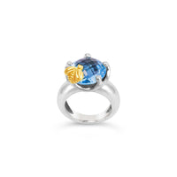 saint blue topaz bee ring