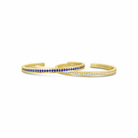 blue sapphire and diamond tennis bracelet gold