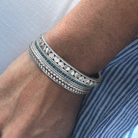 narrow heart cuff bracelet bangle in sterling silver