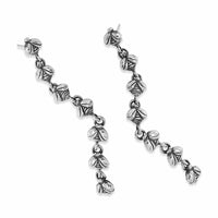 bee line earrings silver