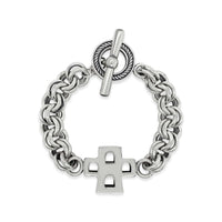 silver bracelet with cross