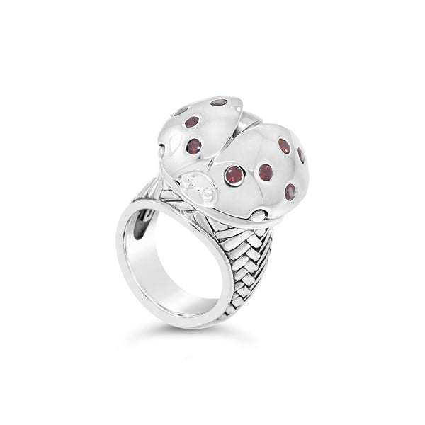 sterling silver ladybug ring