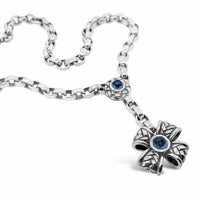 silver maltese cross necklace
