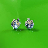 Turtle Earrings Studs | Small Sheldon Sterling Silver Turtle Earrings Studs