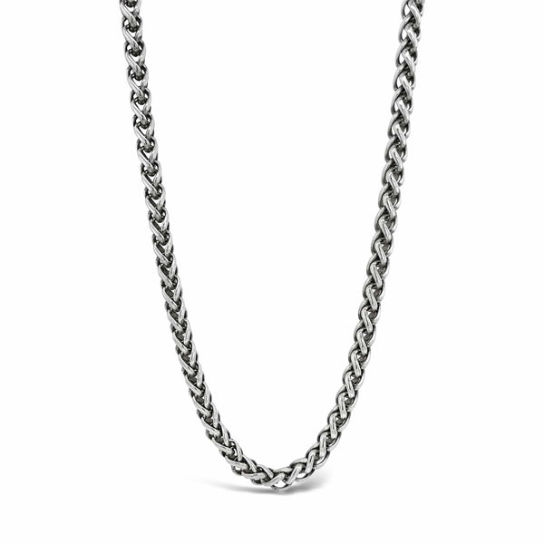 silver wheat chain necklace