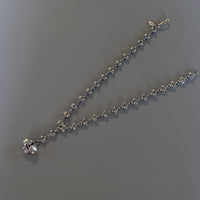 silver y necklace