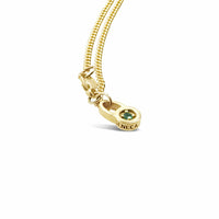 18k gold small curb link necklace with seneca jewelry tsavorite charm