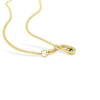 small thin gold chain necklace with lobster claw clasp and seneca jewelry charm
