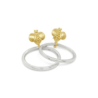 small gold and silver hoop earrings