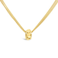 modern 18k gold small heart rondelle pendant for chain necklace