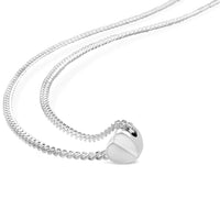 sterling silver delicate heart necklace on thin silver chain