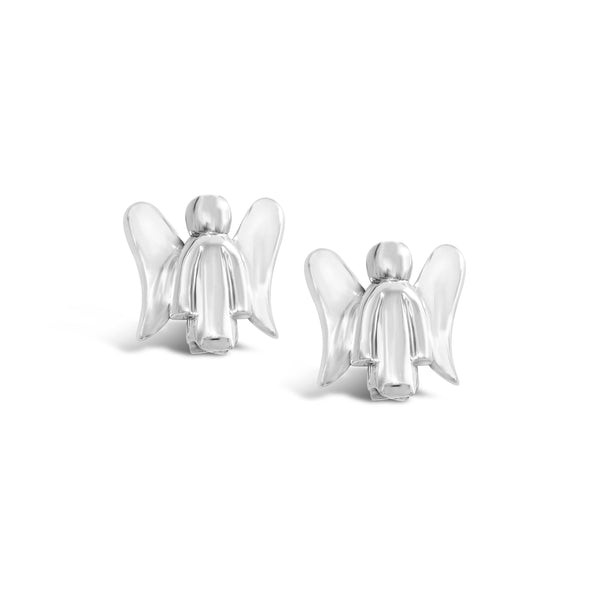 guardian angel earring studs silver