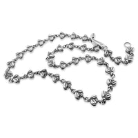 bee chain link necklace silver