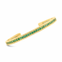 narrow emerald cuff