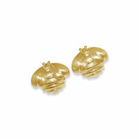 solid gold bumble bee earrings