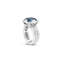 blue topaz ring sterling silver