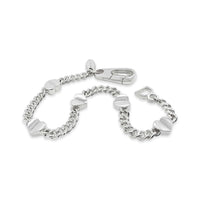 sterling silver bracelet with heart charms