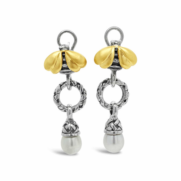 tear drop pearl earrings gold silver