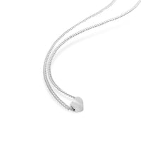 sterling silver small petite heart necklace on thin chain