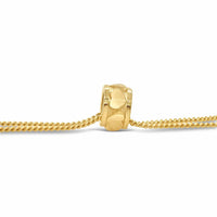 modern 18k gold heart side on bead charm enhancer for necklace or bracelet