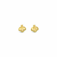 bee stud earrings gold