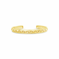 thin triangle bullet cuff bracelet gold