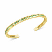 thin tsavorite birthstone bracelet bangle