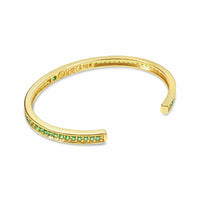 tsavorite birthstone cuff by Seneca Jewelry