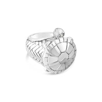 large silver turtle ring