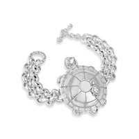 mama and baby turtle shell bracelet