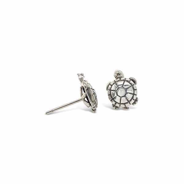 sterling silver turtle earrings studs
