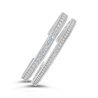 white gold diamond bangles