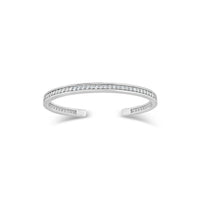 18k white gold diamond cuff