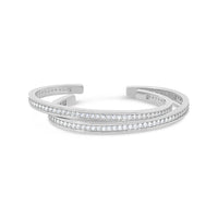 18k white gold pave diamond bangles