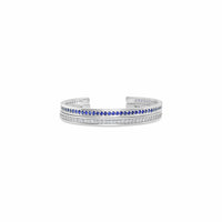 sapphire and diamond tennis bracelets white gold