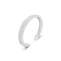 narrow sterling silver braided cuff bracelet