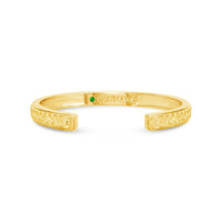 18k gold herringbone braid cuff bracelets by Seneca Jewelry