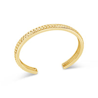 18k gold basket weave braided cuff bangle