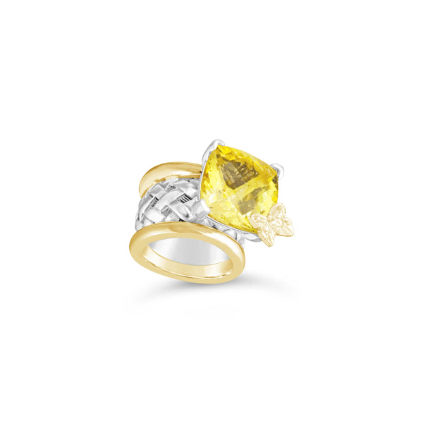 yellow stone ring gold
