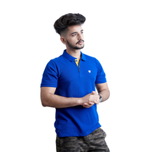 Load image into Gallery viewer, Polo T-shirt Combo-Red & Royal Blue