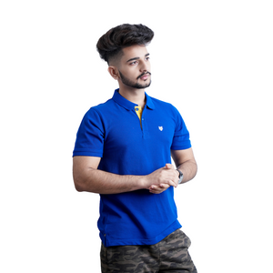 Polo T-shirt Combo-Red & Royal Blue